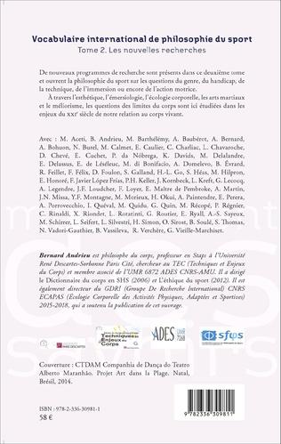 4eme Vocabulaire international de philosophie du sport