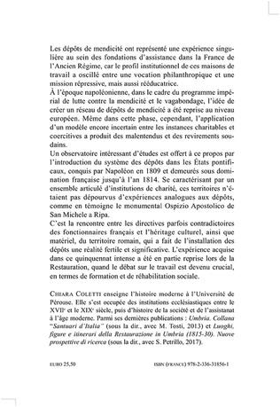 4eme Les dépôts de mendicité et la domination napoléonienne dans les États pontificaux