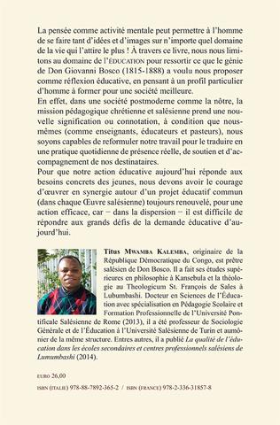 4eme La pensée pédagogique de Don Bosco dans le contexte africain
