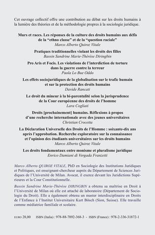 4eme Expériences juridiques sur les droits humains