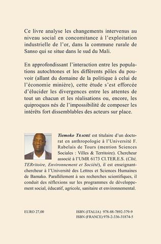 4eme Réalité rurale et exploitation aurifère au Mali