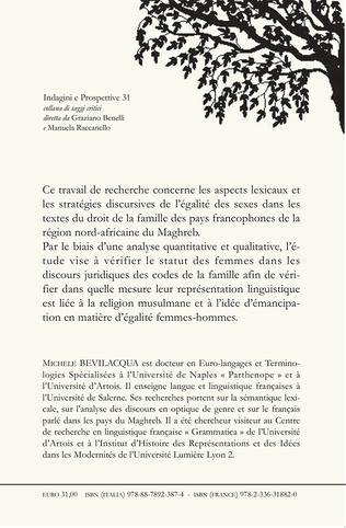 4eme ÉGALITÉ FEMMES-HOMMES DANS LE DROIT FAMILIAL AU MAROC, EN ALGERIE ET EN TUNISIE