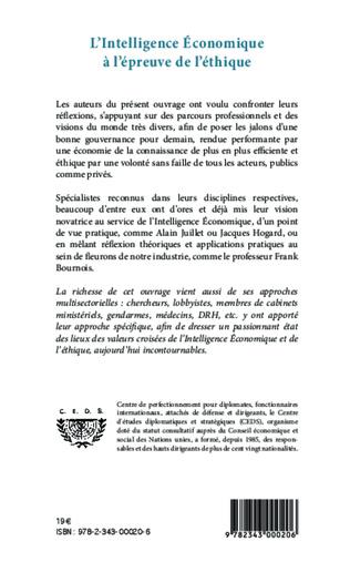 4eme L'intelligence économique à l'épreuve de l'éthique