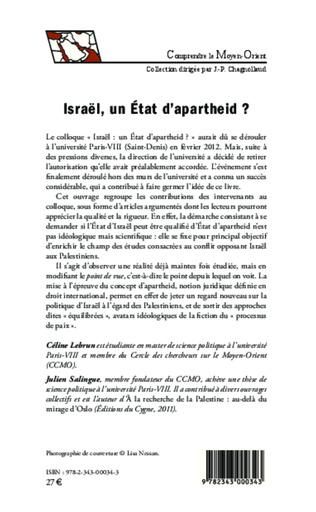 4eme Israël, un Etat d'apartheid ?