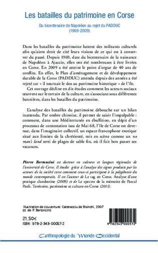 4eme Les batailles du patrimoine en Corse