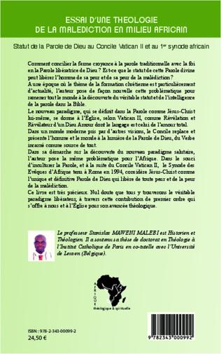 4eme Essai d'une théologie de la malédiction en milieu africain