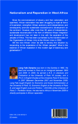 4eme Nationalism and Reparation in West Africa