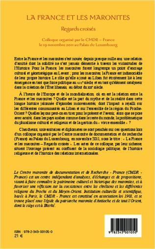 4eme La France et les maronites
