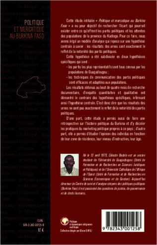 4eme Politique et mercatique au Burkina Faso