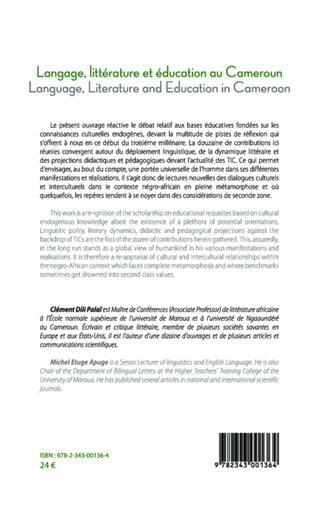 4eme Langage, littérature et éducation au Cameroun