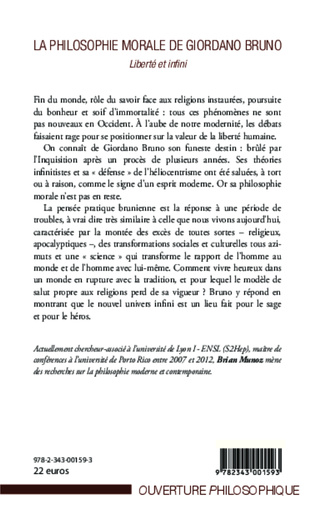 4eme La philosophie morale de Giordano Bruno