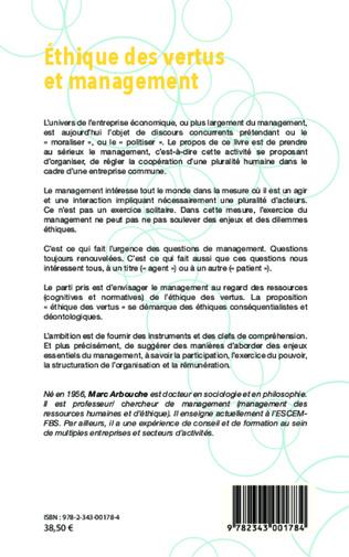 4eme Éthique des vertus et management