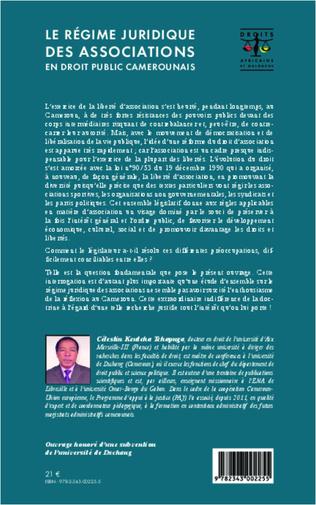 4eme Le régime juridique des associations en droit public camerounais