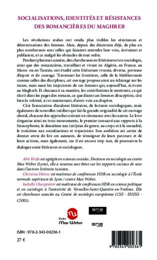 4eme Socialisations, identités et résistances des romancières du Maghreb