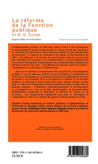 4eme La réforme de la Fonction publique en R.D. Congo