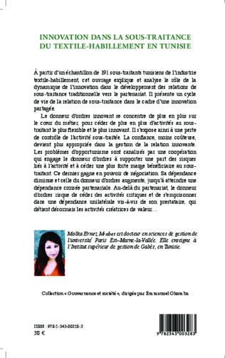 4eme Innovation dans la sous-traitance du textile-habillement en Tunisie