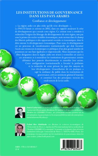 4eme Les institutions de gouvernance dans les pays arabes