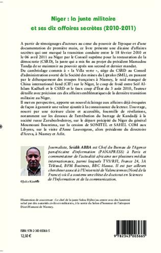 4eme Niger : la junte militaire et ses dix affaires secrètes (2010-2011)