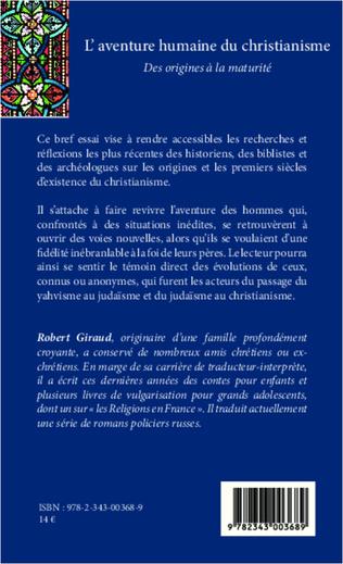 L Aventure Humaine Du Christianisme Des Origines A La