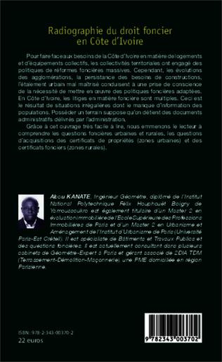 4eme Radiographie du droit foncier en Côte d'Ivoire
