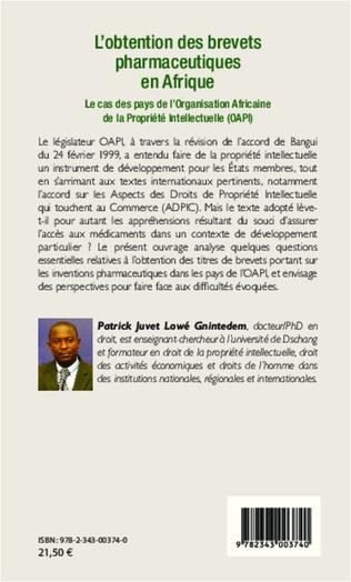 4eme L'obtention des brevets pharmaceutiques en Afrique