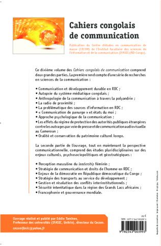 4eme Cahiers congolais de communication (Vol. X)