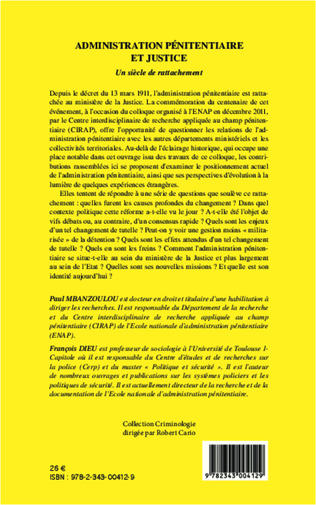 4eme Administration pénitentiaire et justice