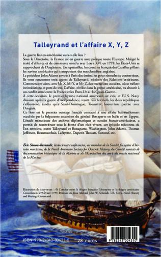 4eme Talleyrand et l'affaire X, Y, Z