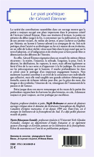 4eme Le pari poétique de Gérard Etienne