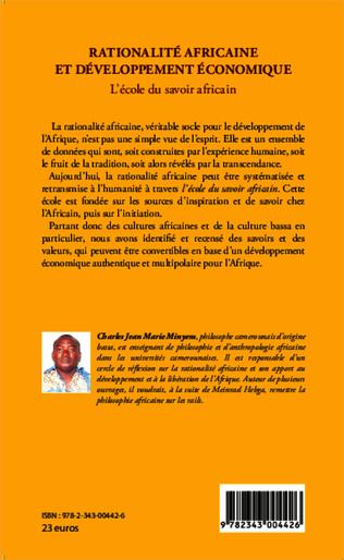 4eme Rationalité africaine et développement économique