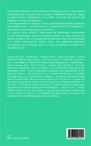 4eme Langues collatérales en domaine slave