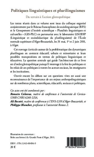 4eme Politiques linguistiques et plurilinguistiques