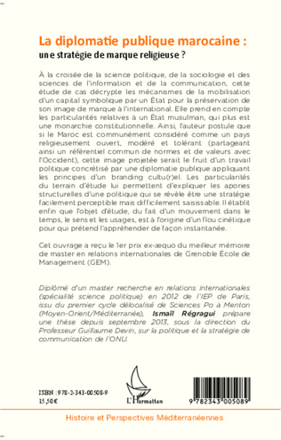 4eme La diplomatie publique marocaine : une stratégie de marque religieuse ?