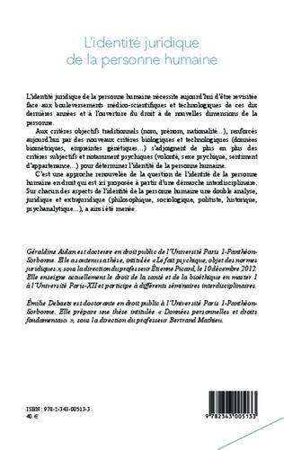 4eme L'identité juridique de la personne humaine