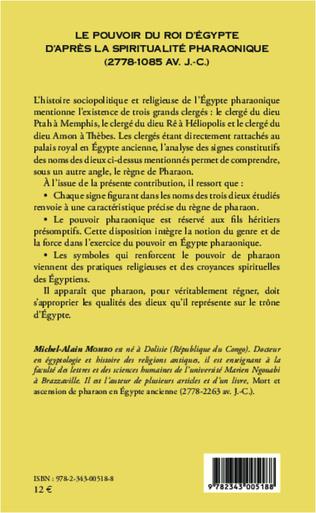 4eme Pouvoir du roi d'Egypte d'après la spiritualité pharaonique