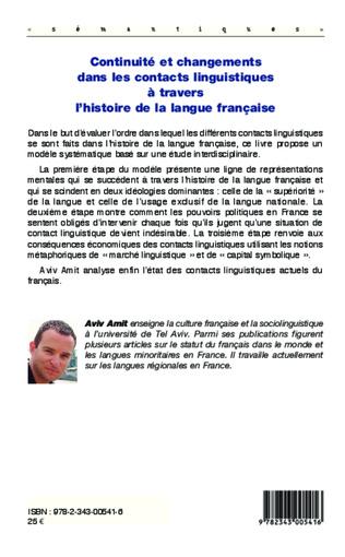 4eme Continuité et changements dans les contacts linguistiques à travers l'histoire de la langue française