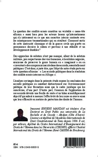 4eme Les accords politiques dans la résolution des conflits armés internes en Afrique