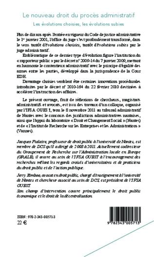 4eme Le nouveau droit du procès administratif