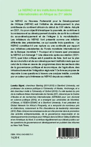 4eme Le NEPAD et les institutions financières en Afrique au 21e siècle