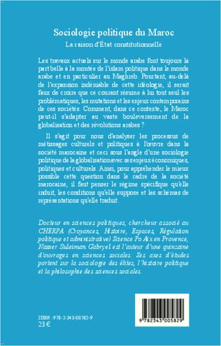 4eme Sociologie politique du Maroc