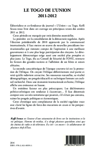 4eme Le Togo de l'Union 2011-2012
