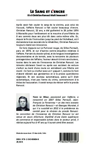 4eme Le sang et l'encre. Et si Christian Ranucci était innocent ?
