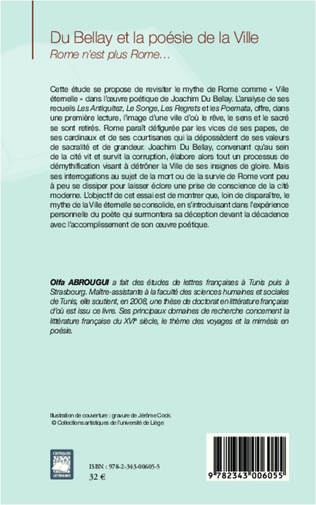 4eme Du Bellay et la poésie de la ville
