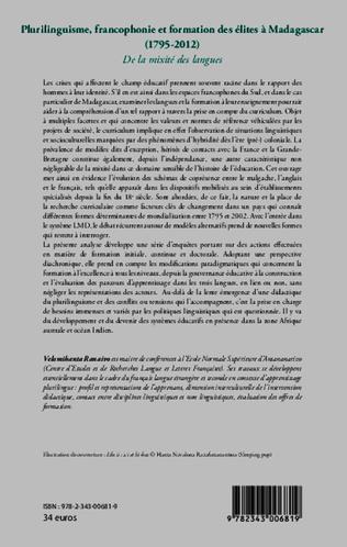 4eme Plurilinguisme francophonie et formation des élites à Madagascar (1795-2012)