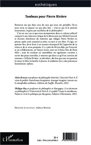 4eme Tombeau pour Pierre Rivière