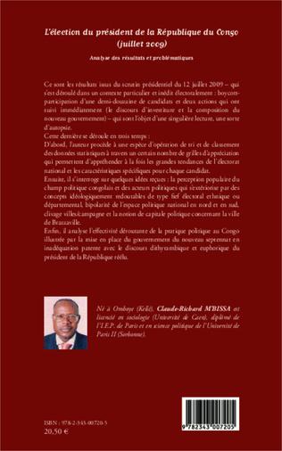 4eme L'élection du président de la République du Congo (juillet 2009)