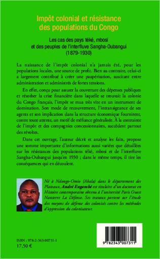 4eme Impôt colonial et résistance des populations du Congo