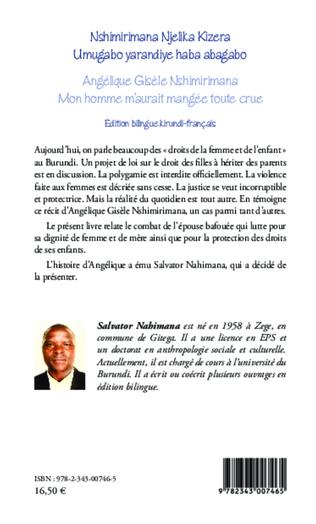 4eme Angélique Gisèle Nshimirimana, Mon homme m'aurait mangée toute crue