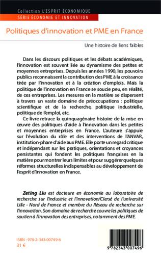 4eme Politiques d'innovation et PME en France