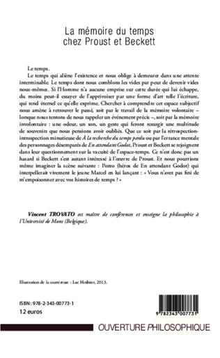 4eme La mémoire du temps chez Proust et Beckett